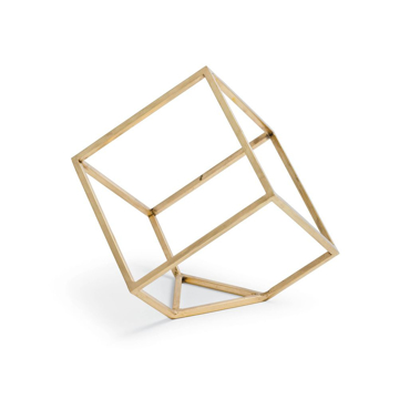 Picture of OPEN STANDING CUBE, BRASS