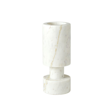 Picture of LUC VASE,WHITE MARBLE