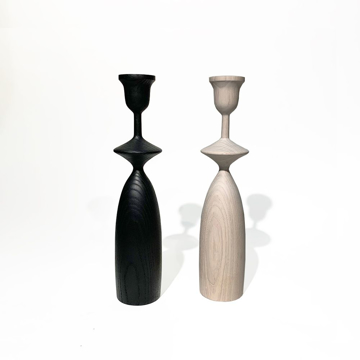 Picture of NOVICE BLACK CANDLEHOLDER, MED