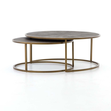 Picture of SHAGREEN NESTING COFFEE TABLE