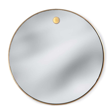 Picture of HANGING CIRCULAR MIRROR, BRASS