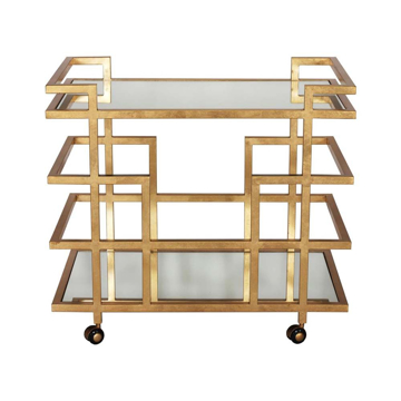 Picture of IRELAND BAR CART - GOLD