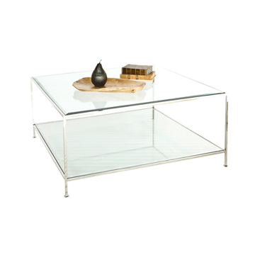 Picture of QUADRO COFFEE TABLE, NICKEL