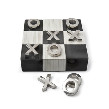 Picture of TIC-TAC-TOE FLAT BOARD, WT/BLK