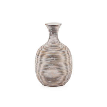 Picture of COLOMBO RIBBED VASE - 8