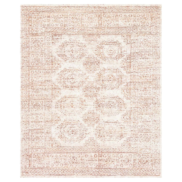Picture of VESTIGE RUG, WHITE/PERSIMMON