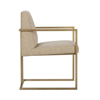 Picture of ASHTON ARM CHAIR, SATIN BRASS