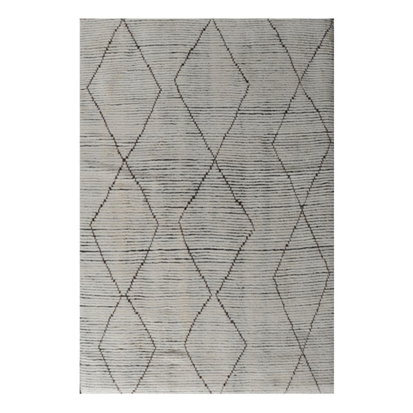 Picture of KUMBA AREA RUG, 8X10 WHT/BR