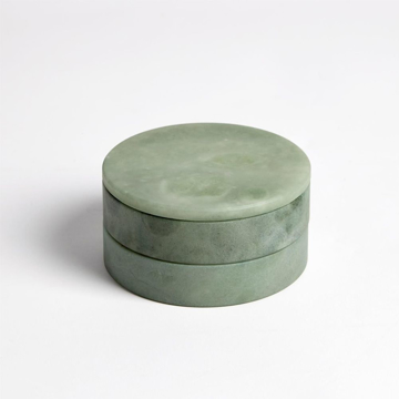 Picture of ALABASTER SWIVEL BOX, GREEN