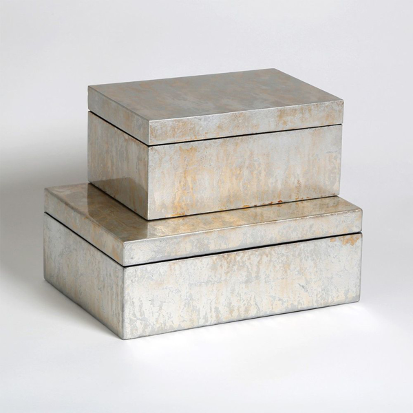 Picture of CHAMPAGNE SILVER LEAF BOX, LG