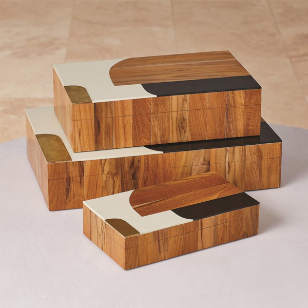 Picture of WOODEN INLAID BOX, SM, BLK/IV