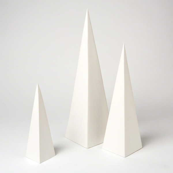 Picture of S/3 PYRAMID OBJET, WHITE
