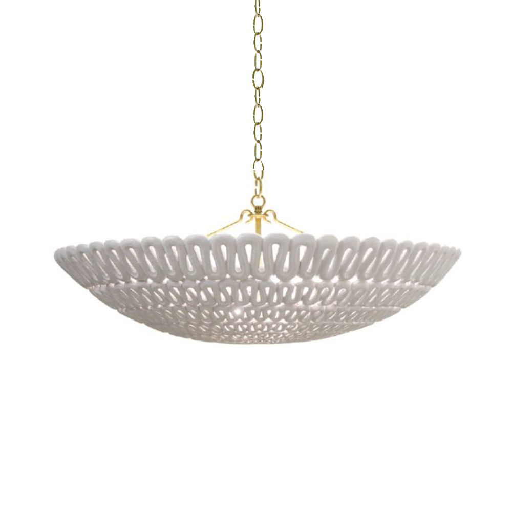 Picture of PIPA BOWL CHANDELIER, GOLD