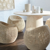 Picture of MANHATTAN IVORY SWIVEL STOOL