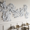 Picture of DECO LEAF WALL DECOR, WHITE