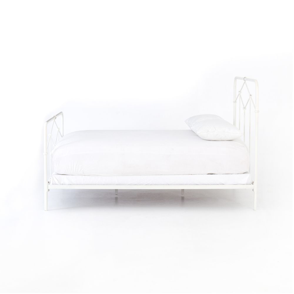 Picture of CASEY IRON QUEEN BED, WHITE