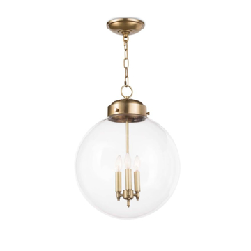 Picture of GLOBE PENDANT, NAT.BRASS