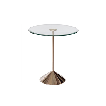 Picture of BRADY GLASS/IRON SIDE TABLE