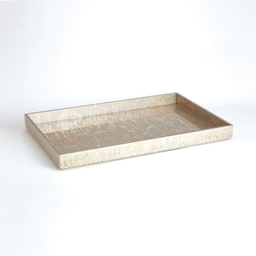 Picture of CHAMPAGNE SILVER LEAF TRAY, LG