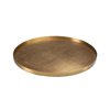 Picture of PLAID ETCHED TRAY, ANT. BRASS