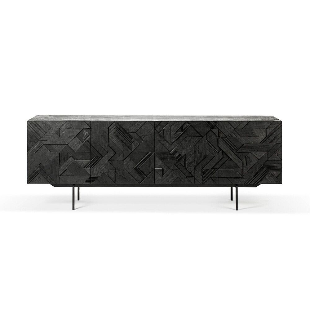Picture of GRAPHIC SIDEBOARD 4D, BLACK TK