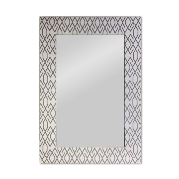Picture of BREWSTER UPHOLSTERED MIRROR
