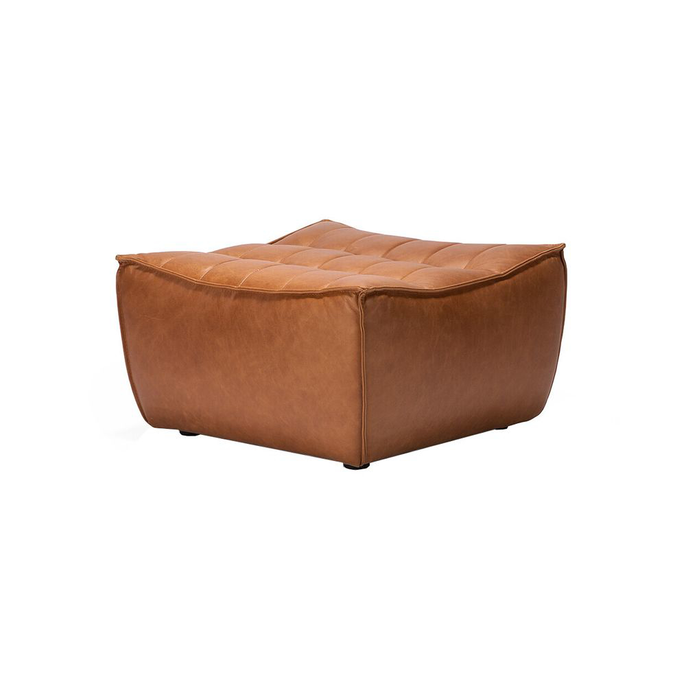 Picture of LEATHER SECTIONAL - OTTOMAN,OS