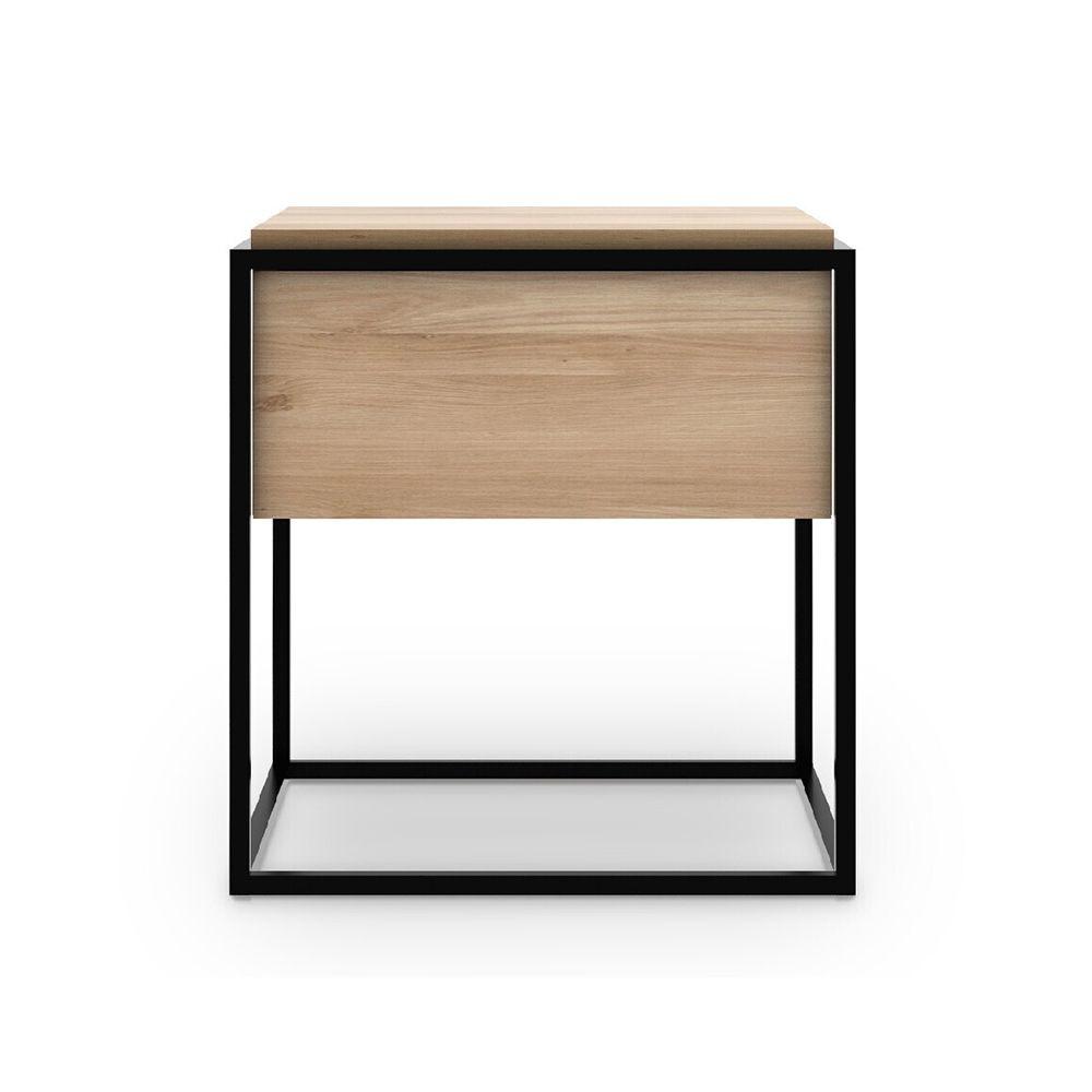 Picture of MONOLIT BEDSIDE TABLE, NAT-BLK