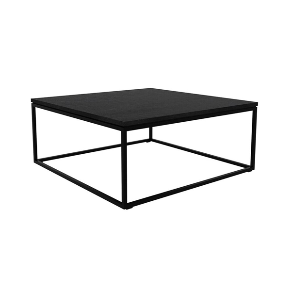 Picture of OAK THIN BLACK COFFEE TABLE