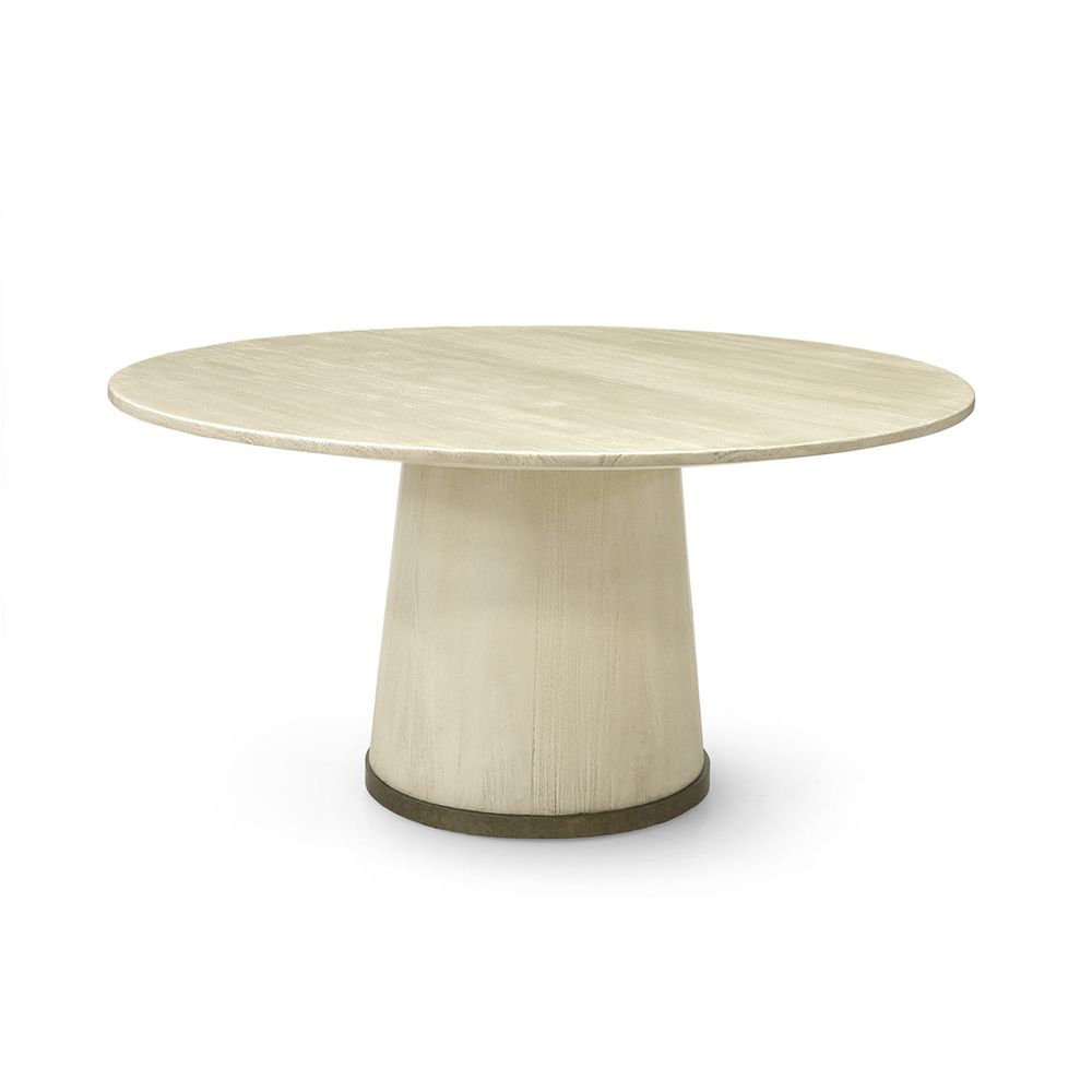 """Picture of CONRAD DINING TABLE 60"""" GOLD"""