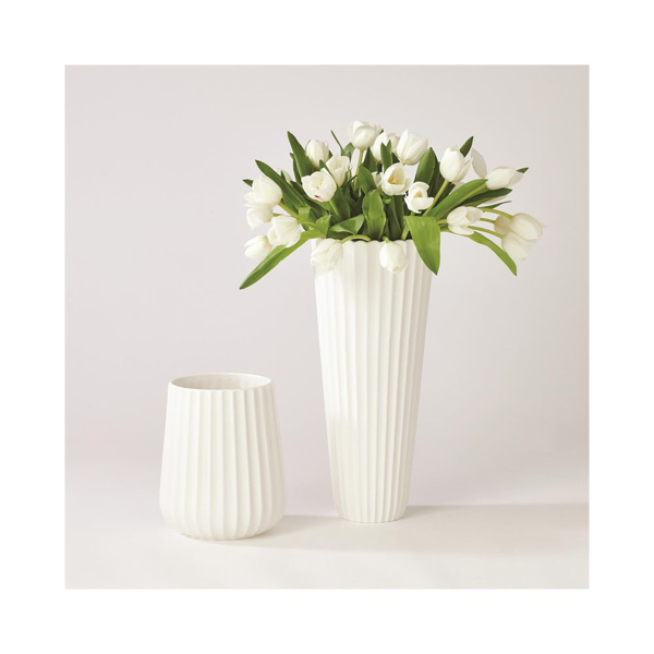 Picture of FLUTED VASE WHITE, LG