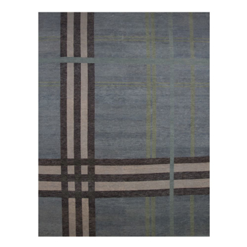 Picture of HIGHLAND PLAID RUG, BLUE 9X12
