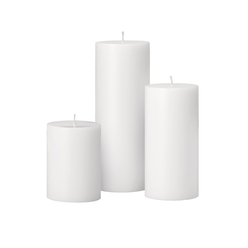 Picture of PRIME PALM WAX CANDLE WHITE,4