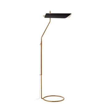 Picture of MILES FLOOR LAMP, AB-BLACK