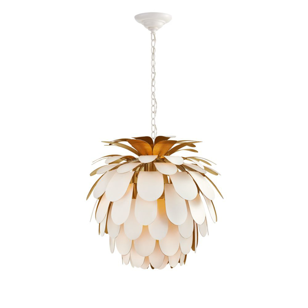 Picture of CYNARA MED CHANDELIER, WHT-G